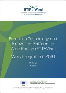 ETIPWind Work Programme 2016 picture