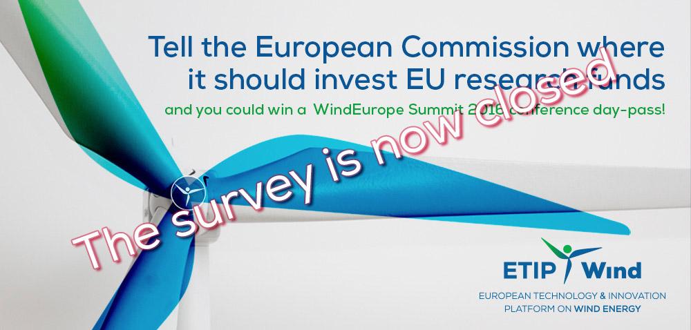 ETIPWind survey closed